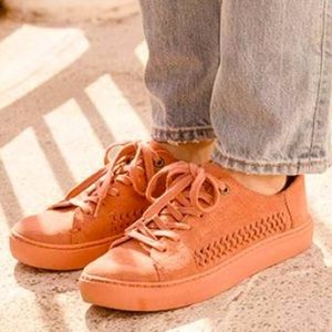 Toms Lenox Faded Rose Suede Sneakers